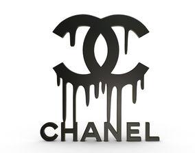 Chanel logo 3 3D