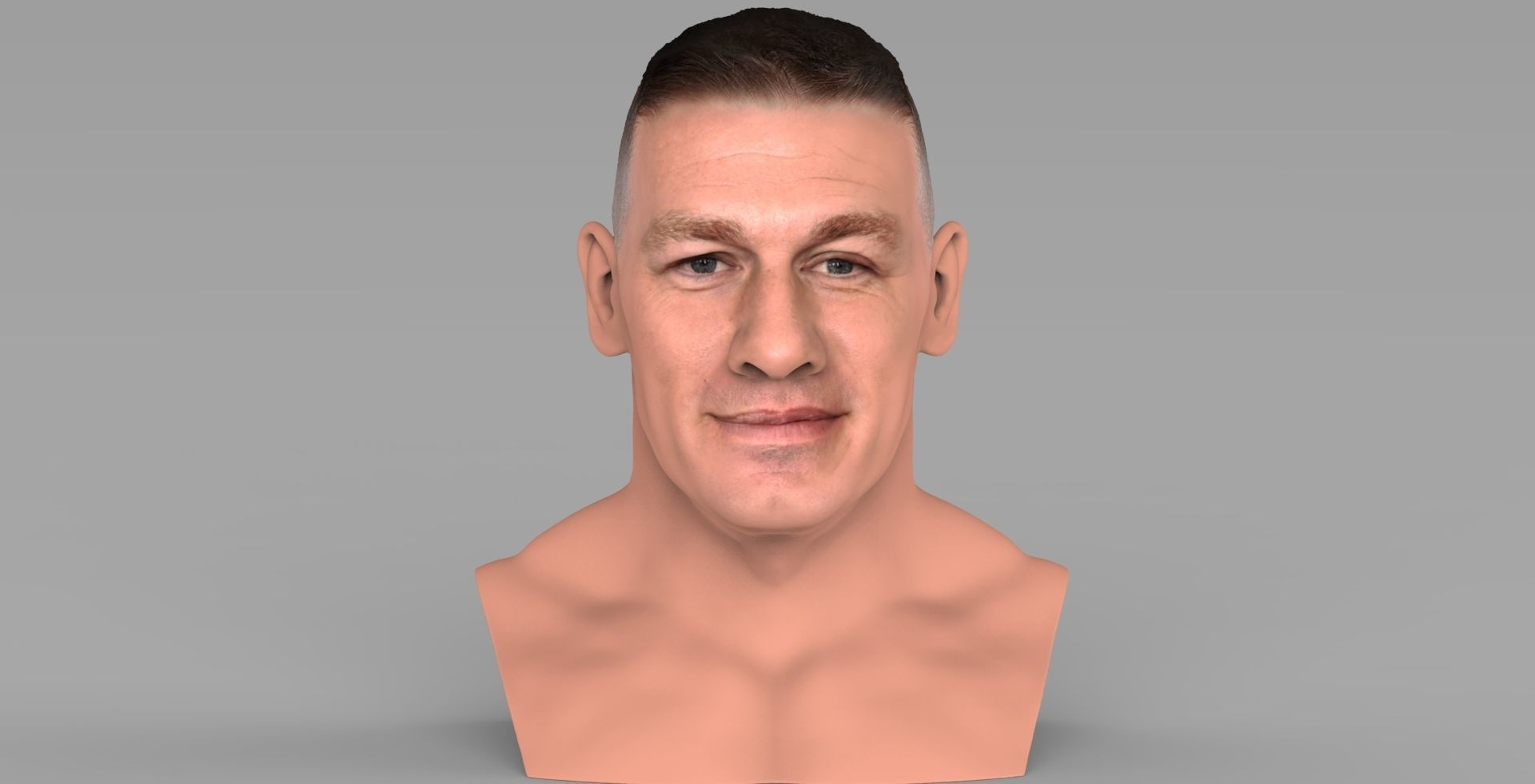 John Cena bust ready for full color 3D printing