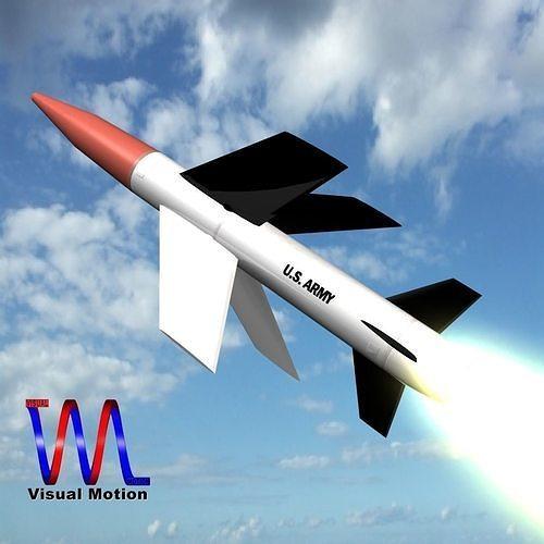 mgm-18a lacrosse missile 3d model obj mtl fbx dxf stl blend dae 1