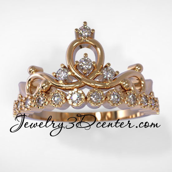 Wedding ring crown obr 206