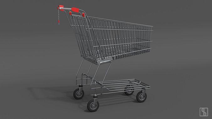 shopping cart 3d model fbx ma mb 1