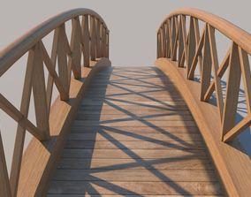 Wooden Bridge 3D asset