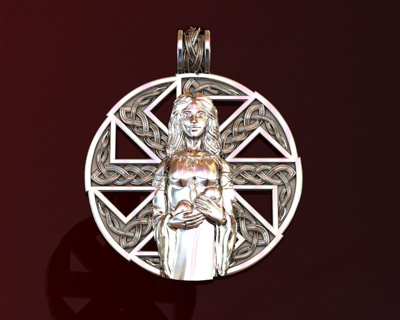 Woman Kolovrat Pendant Amulet Mother and Child