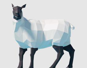 Sheep 3D asset game-ready