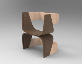 3D asset realtime Modern Chair wood