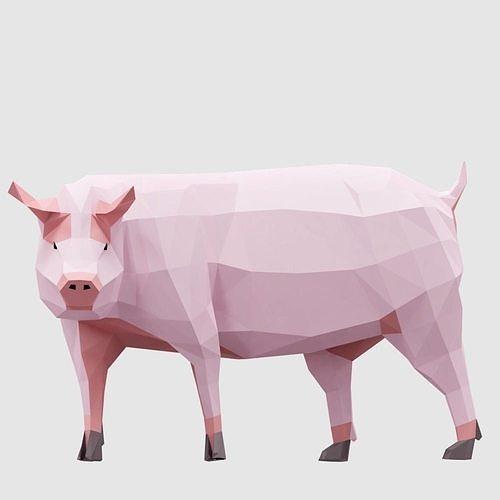 farm pigs 3d model obj mtl 3ds fbx blend dae 1