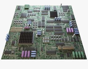 Electronic Circuit Board - SEAMLESS 3D model
