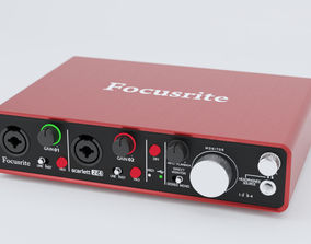 3D model Focusrite Scarlett 2i4 2nd Gen