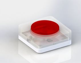 3D print model Simple button