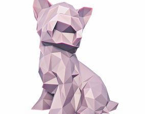 3D asset Yorkshire Terrier Low Poly