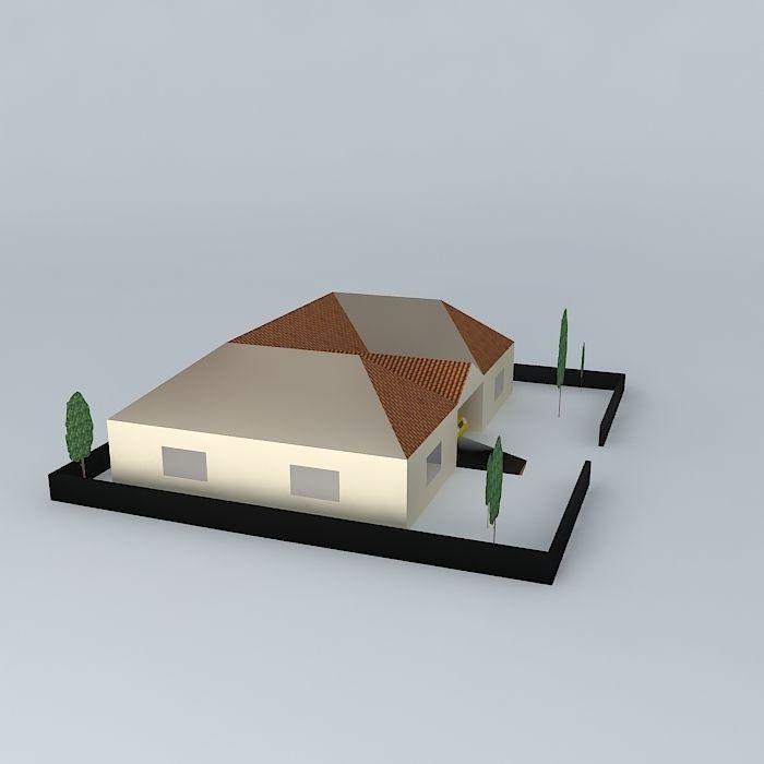 Basic house model cgtrader basic house model 3d model max obj 3ds fbx stl dae 2 ccuart Gallery