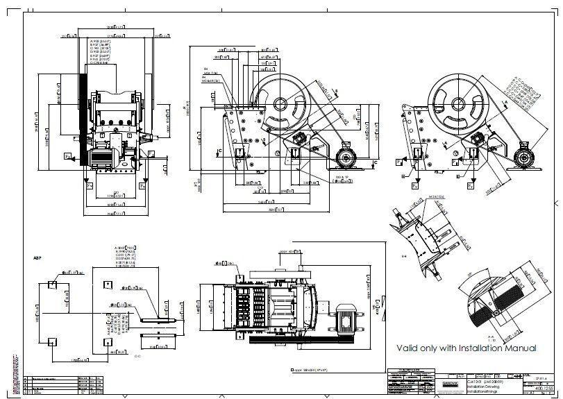 Sandvik CJ412 jaw crusher complete drawing | 3D model on