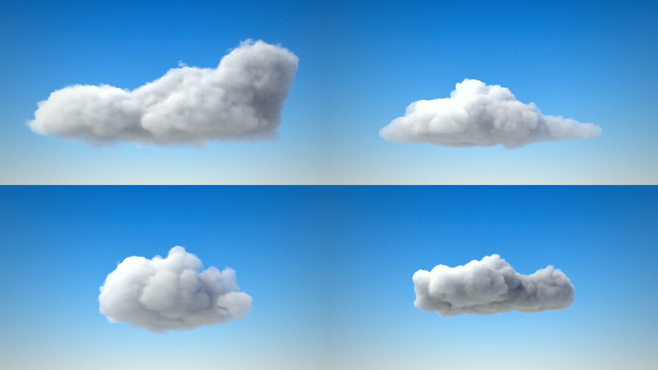 Volumetric clouds VDB