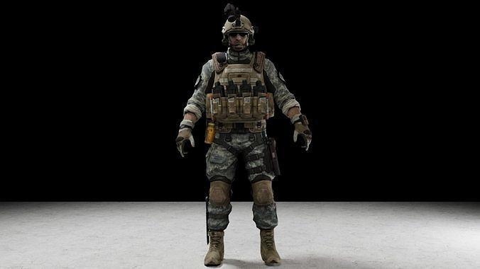 soldier 3d model obj mtl 3ds fbx stl blend dae 1