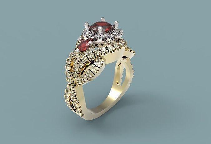 ring 51 3d model obj mtl stl 3dm 1