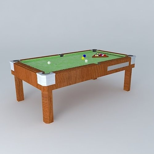 Slate Pool Table Free 3D Model MAX OBJ 3DS FBX STL DAE