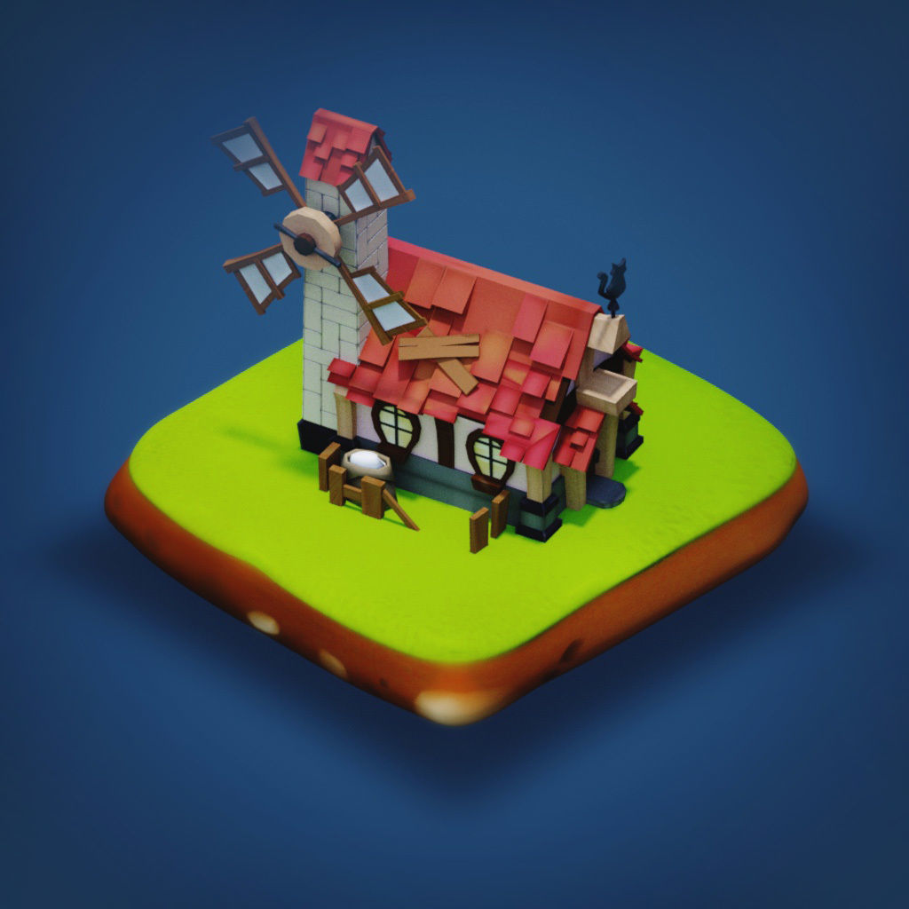 Mill - RPG Medieval Low-poly 3D model