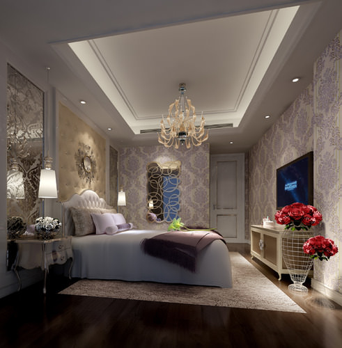 3d bright luxury bedroom interior cgtrader for Bedroom designs 3d model