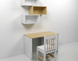 Kids Reading Table 1 3D model
