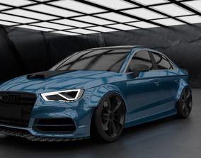 3D model Audi RS3 2018 wide-body by Kaiser Design