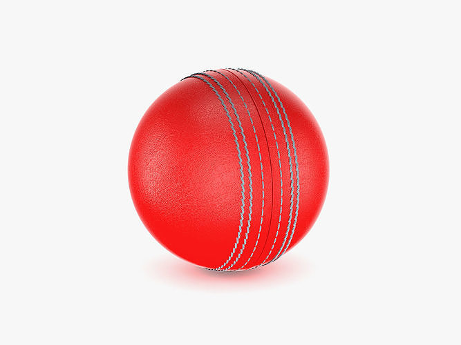 cricket ball 3d model max obj mtl 3ds fbx c4d ma mb 1