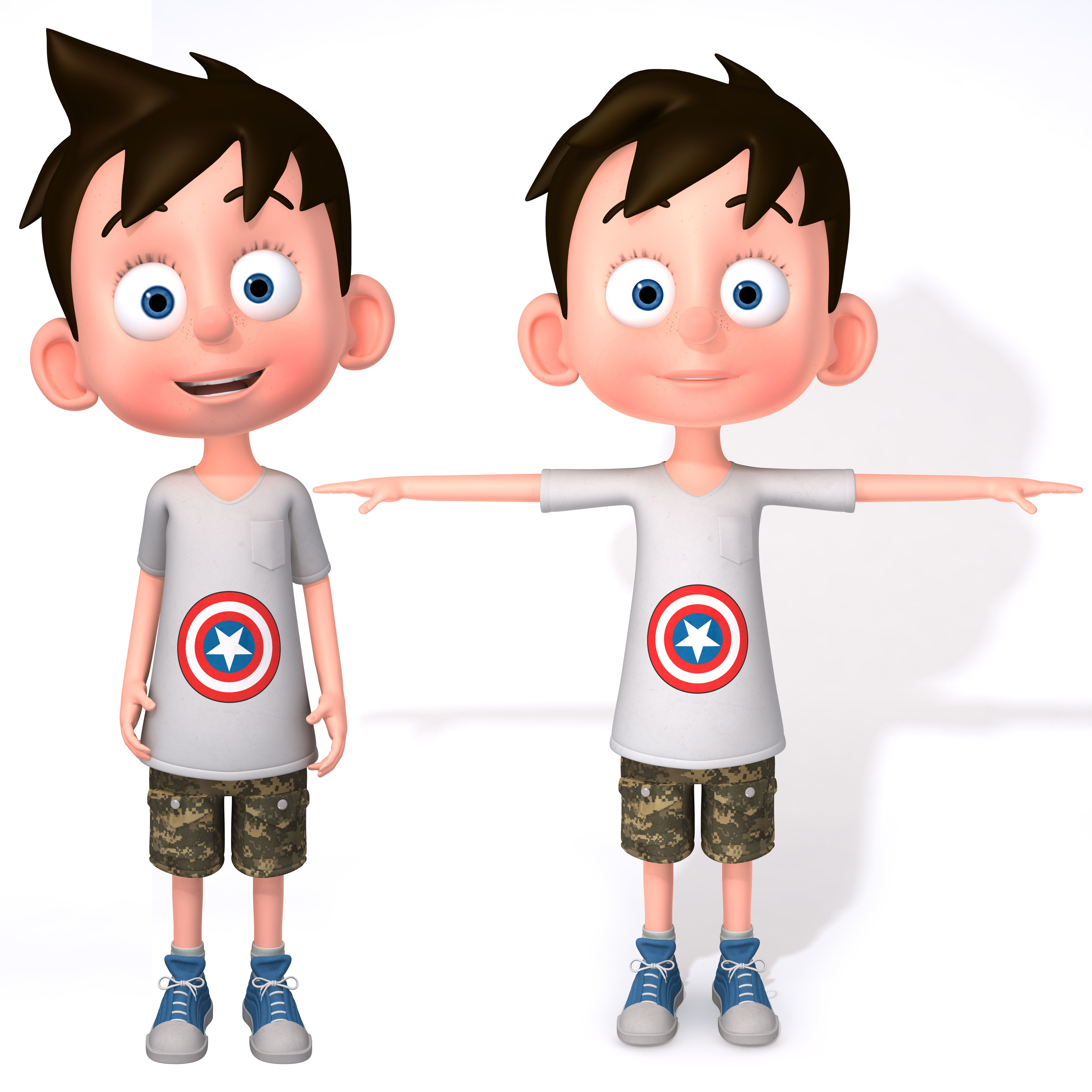 3D Cartoon Boy Rigged