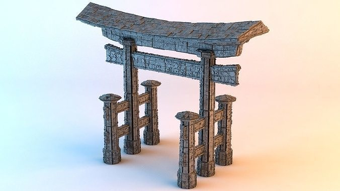 sci-fi shapes - the torii 3d model obj mtl fbx c4d blend dae 1