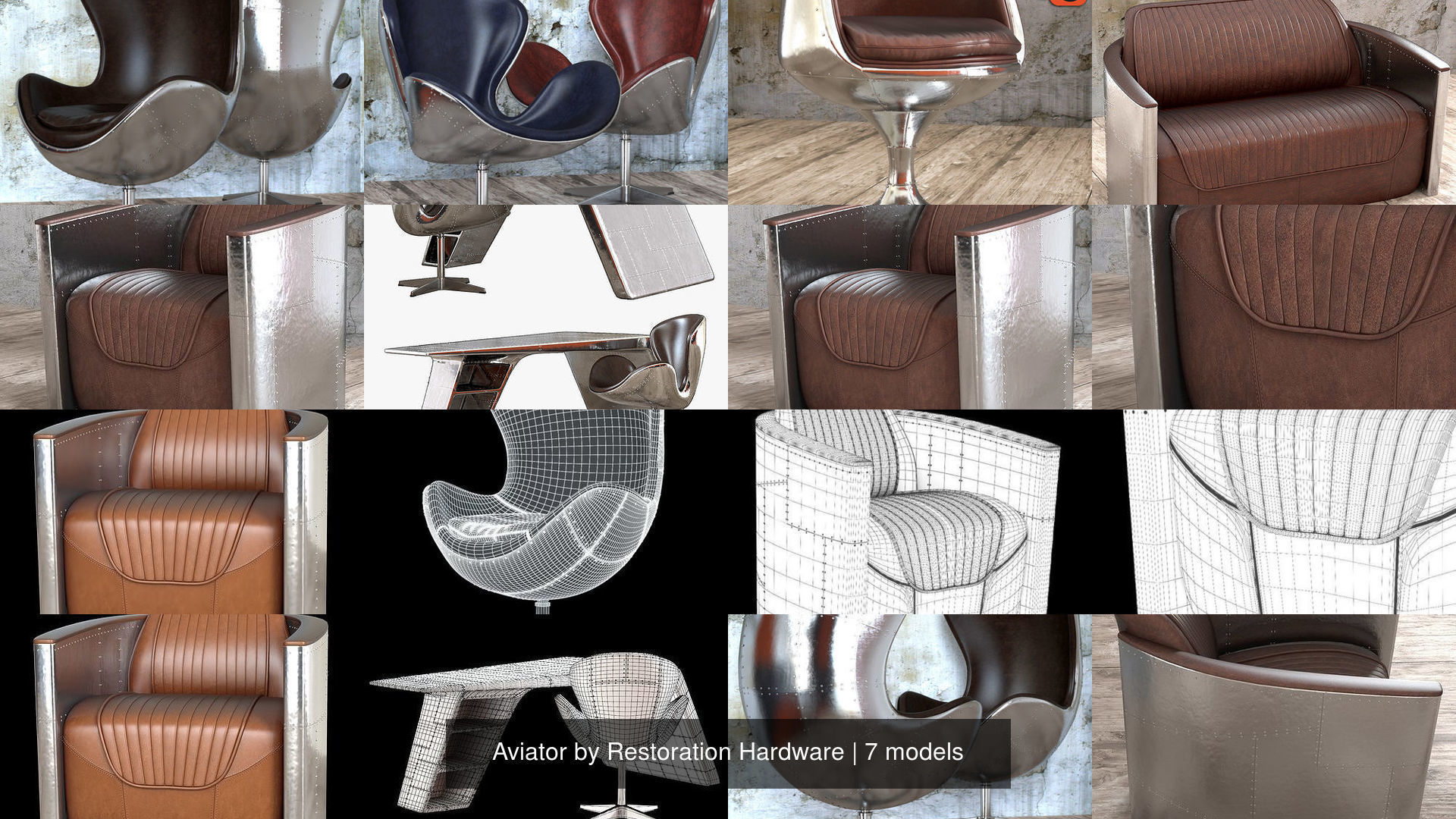 Admirable Aviator By Restoration Hardware 3D Model Collection Short Links Chair Design For Home Short Linksinfo