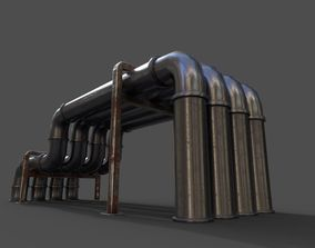 low-poly Pipe air conditioning prt1 low-poly 3D model