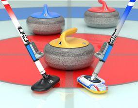 3D model Curling Set