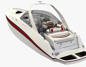 3D asset VR / AR ready Speedboat