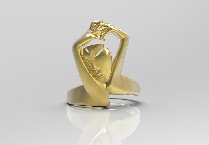 elegant womens ring 3d model max obj mtl 3ds fbx stl 1