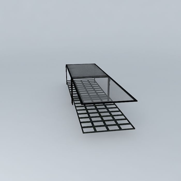 coffee table tuscany maisons du monde 3d model max obj 3ds. Black Bedroom Furniture Sets. Home Design Ideas