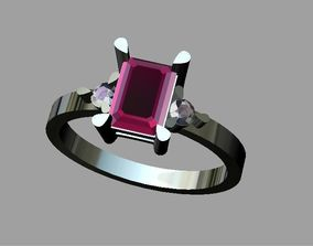 Diamond ring tria 3D printable model