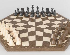 Chess Three Players 3D model