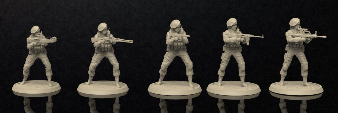 Soldiers Female Figure Set 2