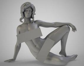 Side Sitting Woman 3D print model