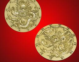 3dmax dragon relief model