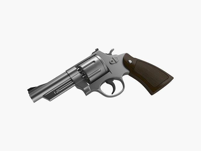 revolver 3d model max obj mtl fbx 1