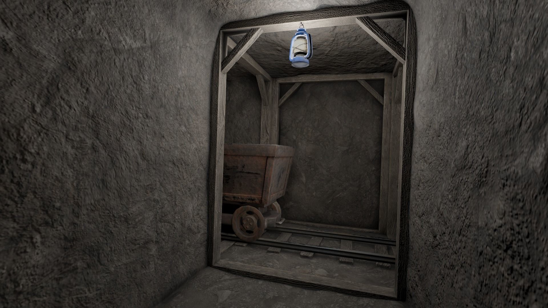Low Poly Modular Mine Shaft With PBR Materials