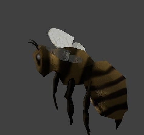 low poly bee