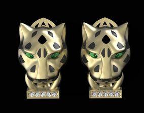 3D print model panther earrings leopard