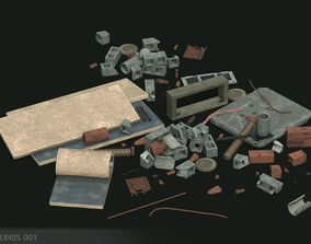 3D asset Debris 001