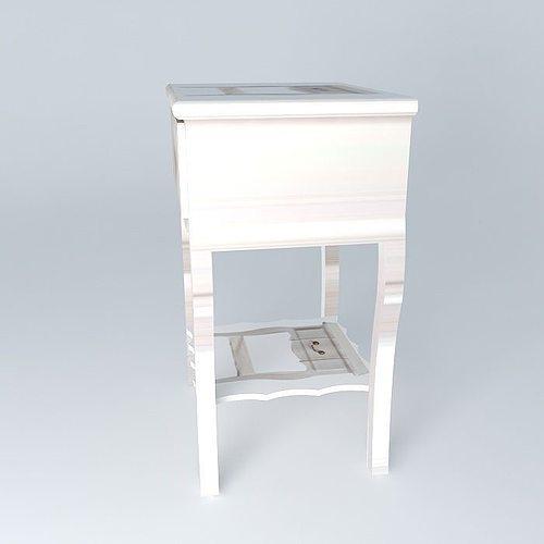 Nightstand josephine maisons du monde 3d model max obj 3ds for Table josephine maison du monde