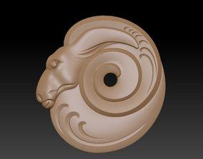 3D print model ram head