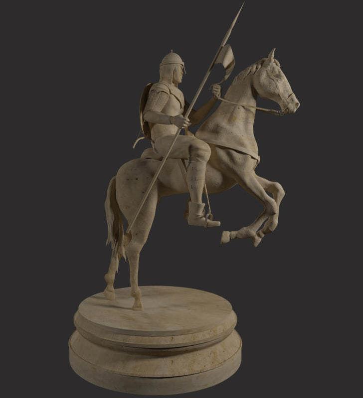 Cavalry Statue