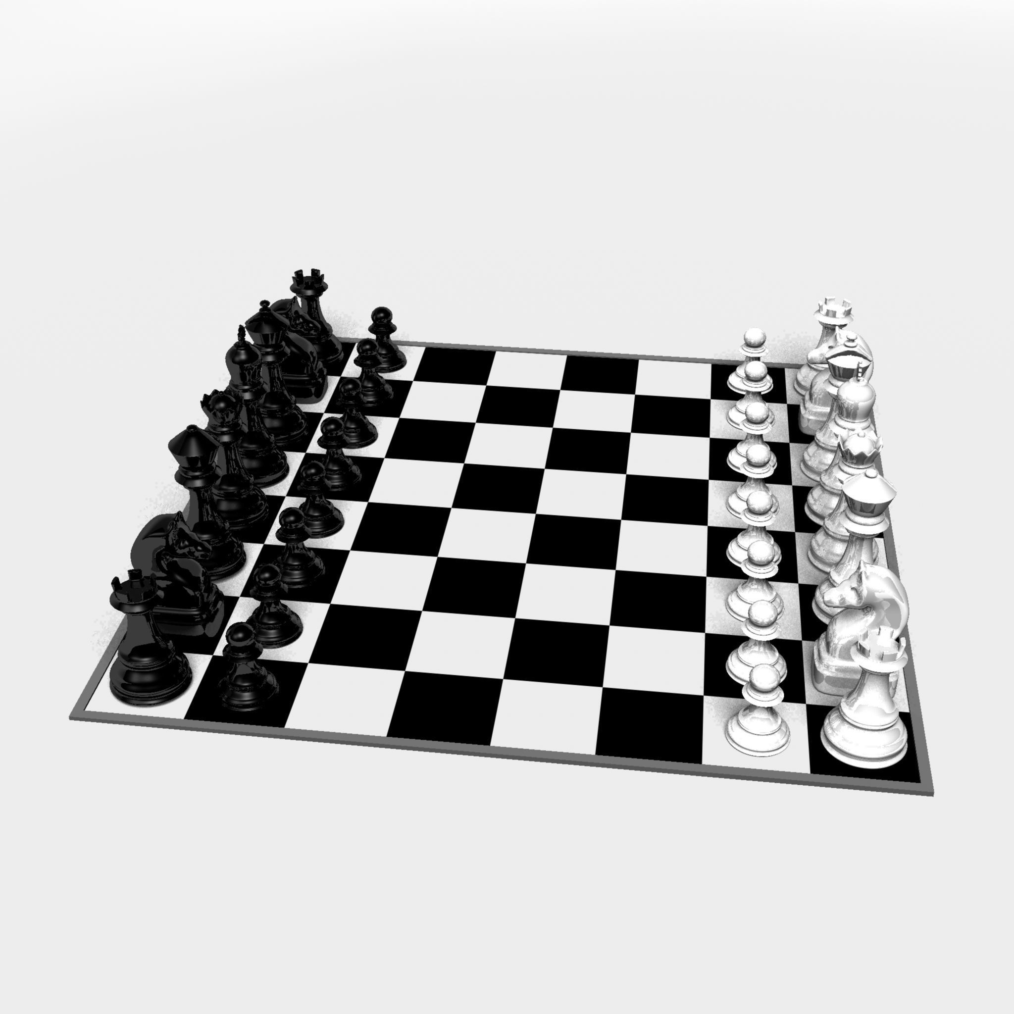 graphic regarding Printable Chess Board titled Chess board 3D Print Fashion