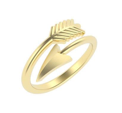 Adjustable Arrow Design Ring