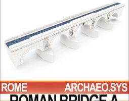 imperial ancient roman bridge a 3d model obj 3ds c4d vue