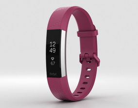 3D model FitBit Alta HR Fuchsia